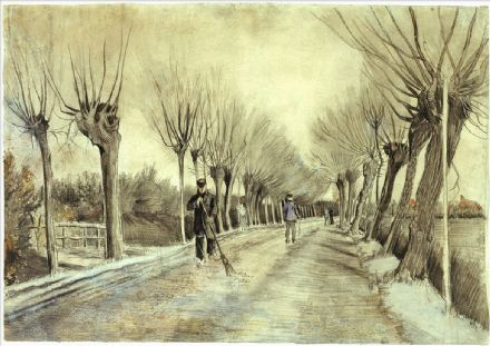 Van Gogh, Vincent: Road in Etten. Fine Art Print/Poster. Sizes: A4/A3/A2/A1 (004190)